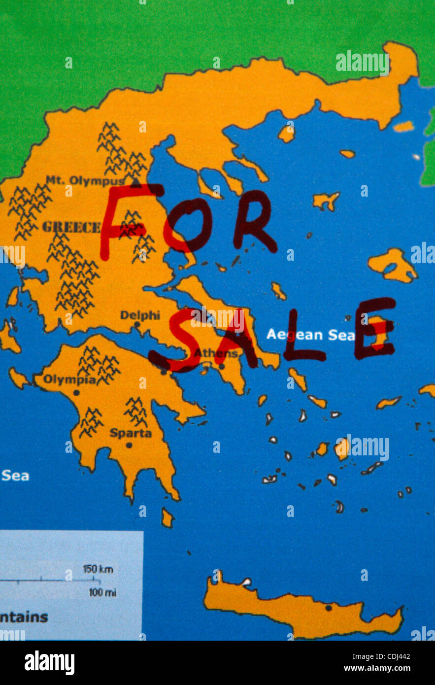 Feb. 15, 2011 - Athens, Greece - The European Union and the International Monetary Fund on Friday told Greece to - Stock Image