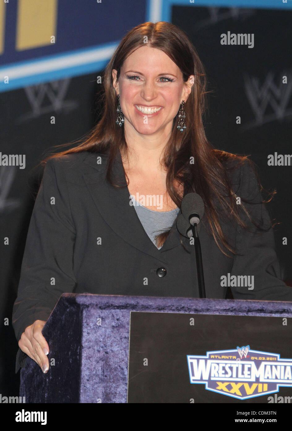 Mar. 30, 2011 - New York, New York, U.S. - STEPHANIE MCMAHON attends the WrestleMania XXVll Press Conference held - Stock Image