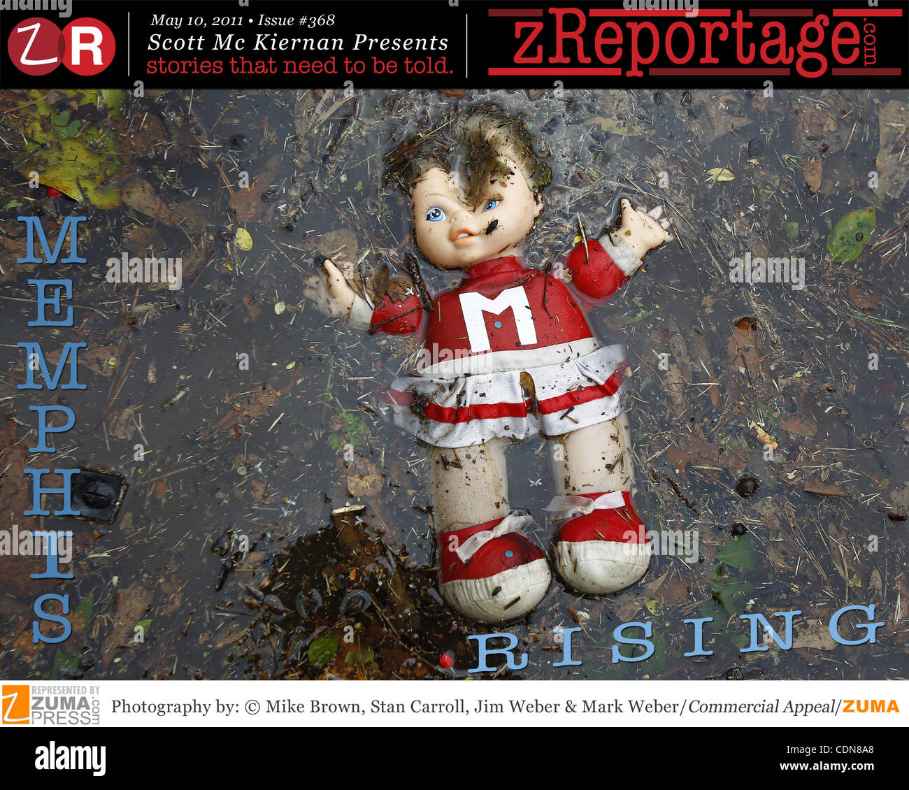 zReportage.com Story of the Week #368: Memphis River- Flood of the Century - Launched May 11, 2011. Full multimedia - Stock Image