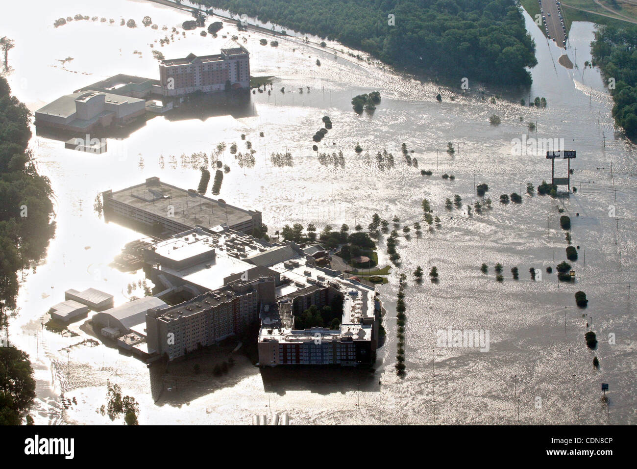 May 10, 2011 - Tunica, Mississippi, U S  - Casinos sit flooded by