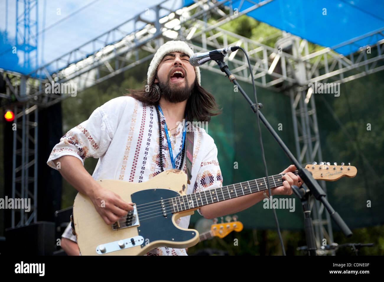 May 28, 2011 - Aptos, California, U.S. - JACKIE GREENE live at 19th annual Santa Cruz Blues Festival. (Credit Image: - Stock Image