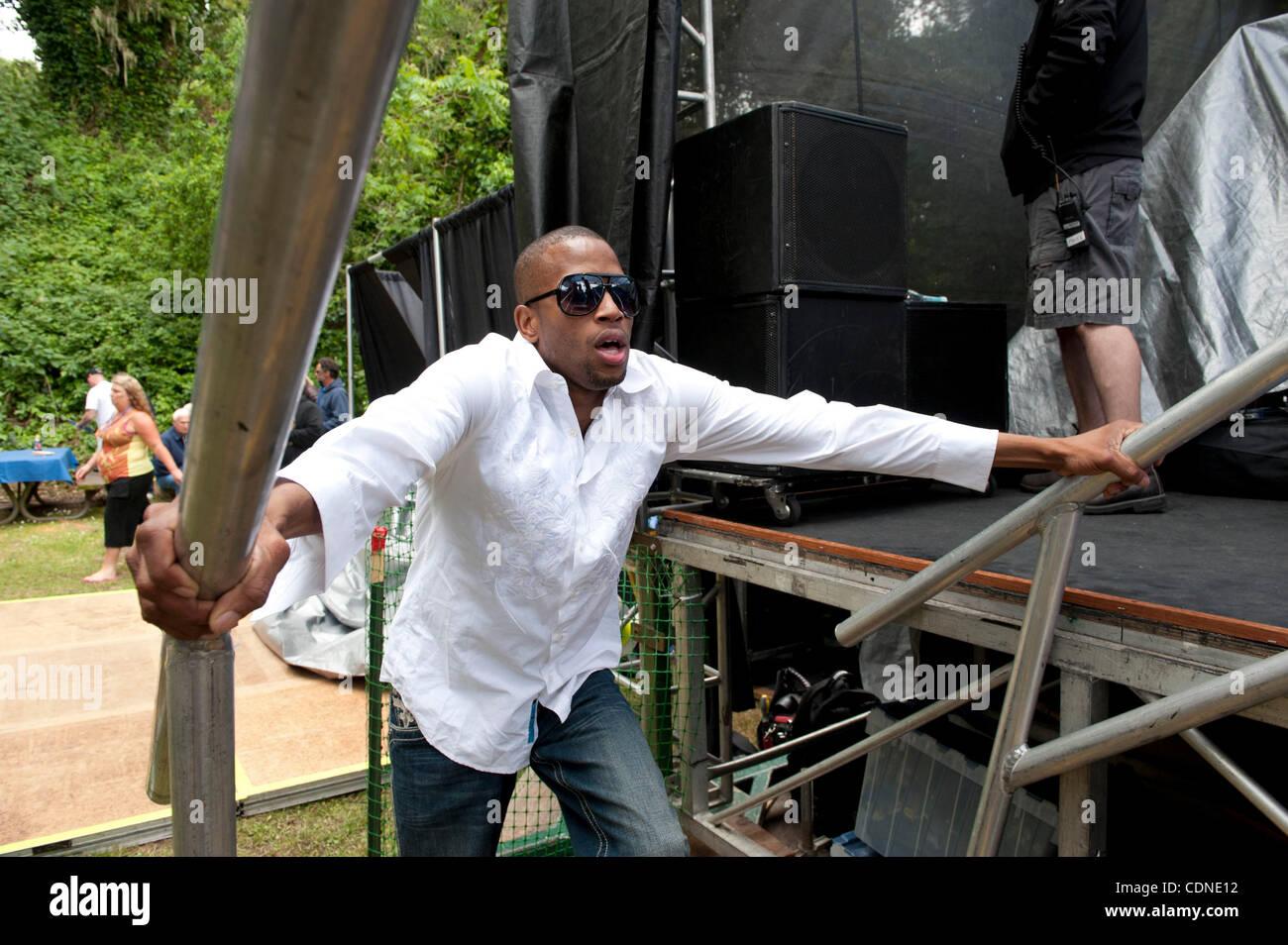 May 28, 2011 - Aptos, California, U.S. - TROMBONE SHORTY backstage at 19th annual Santa Cruz Blues Festival. (Credit - Stock Image