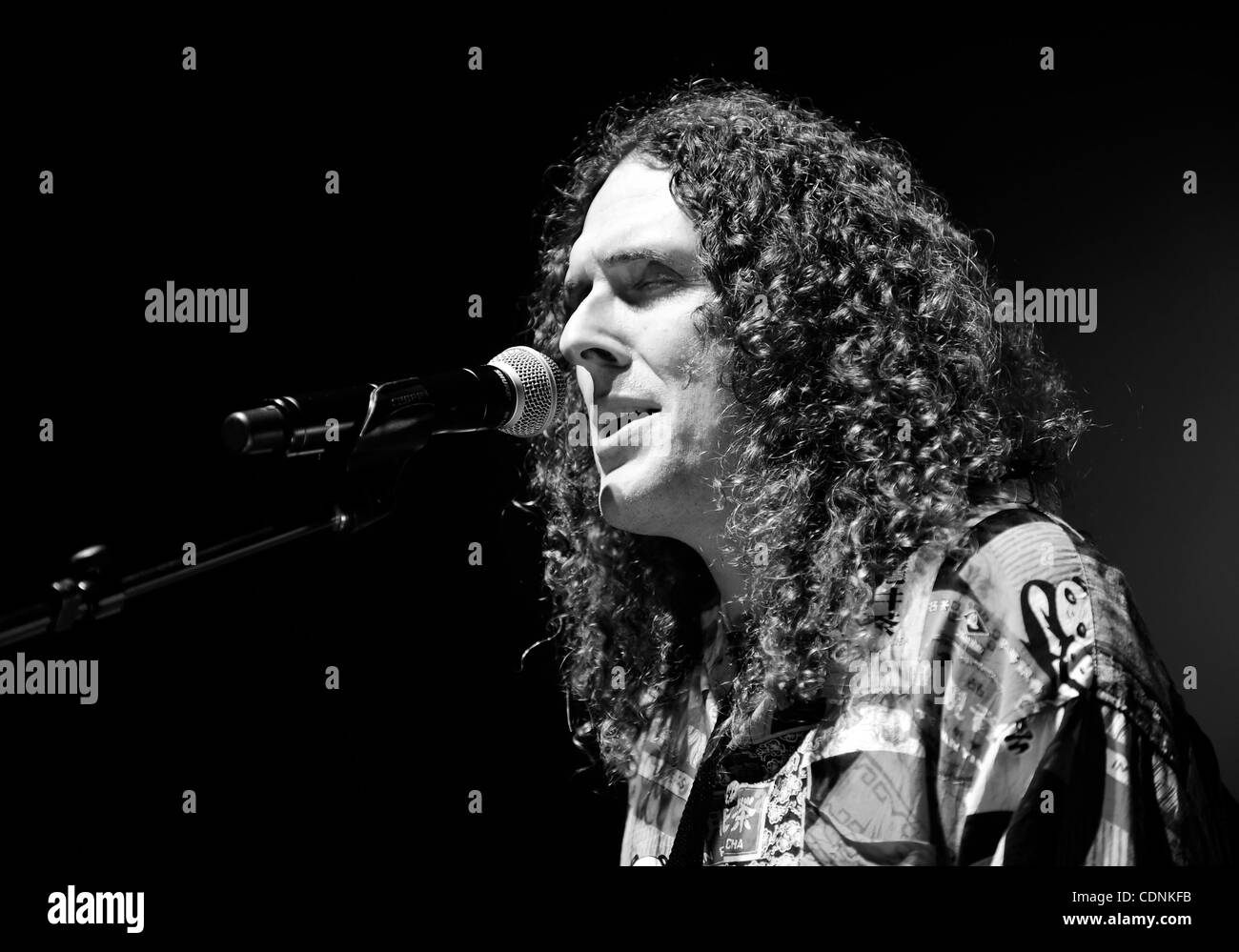 Weird Al Yankovic Black and White Stock Photos & Images - Alamy