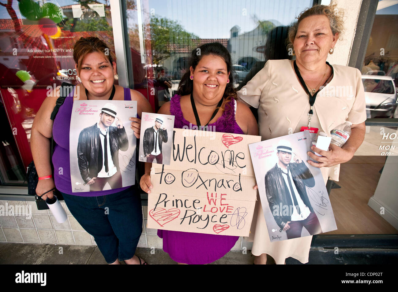 July 09 2011 oxnard california usa fans pose with freshly july 09 2011 oxnard california usa fans pose with freshly autographed posters after a meet and greet with latin recording sensation prince royce at a m4hsunfo