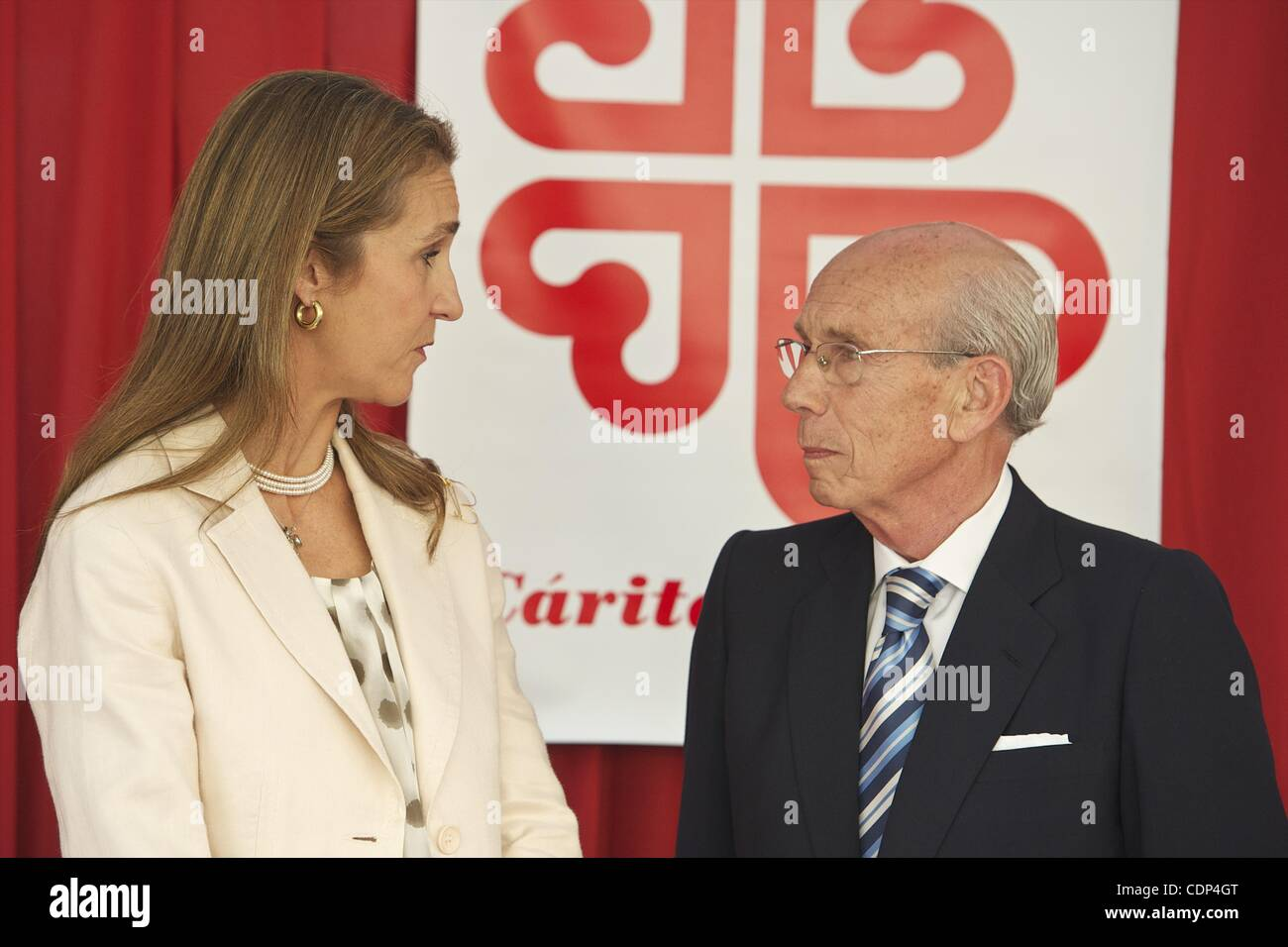 June 21, 2011 - Madrid, Spain - Princess Elena of Spain attends 'Caritas Charity Day' at the Banco Popular - Stock Image
