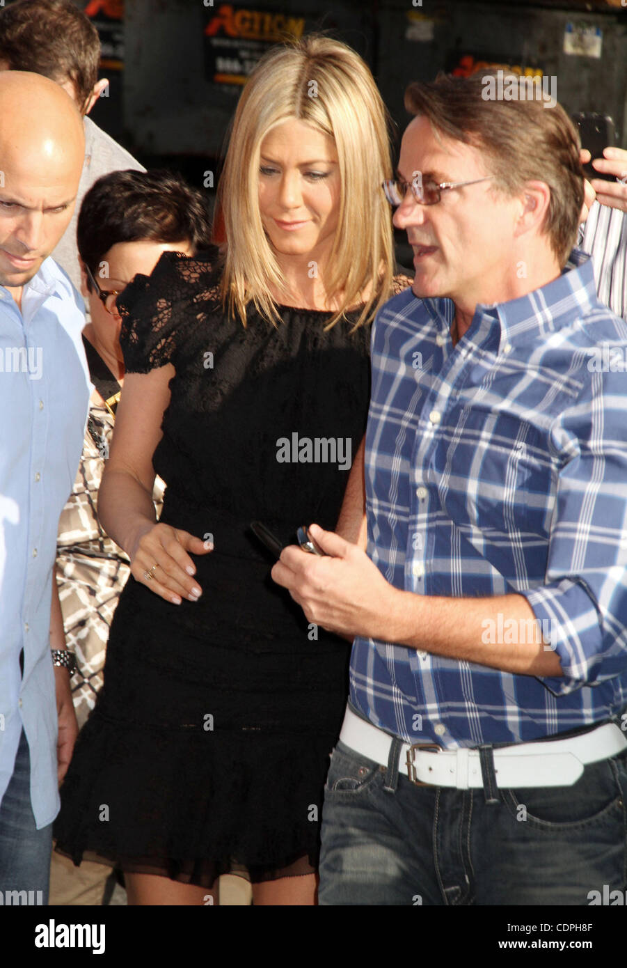 June 27, 2011 - New York, New York, U.S. - Actress JENNIFER ANISTON and publicist STEPHEN HUVANE at her appearance - Stock Image