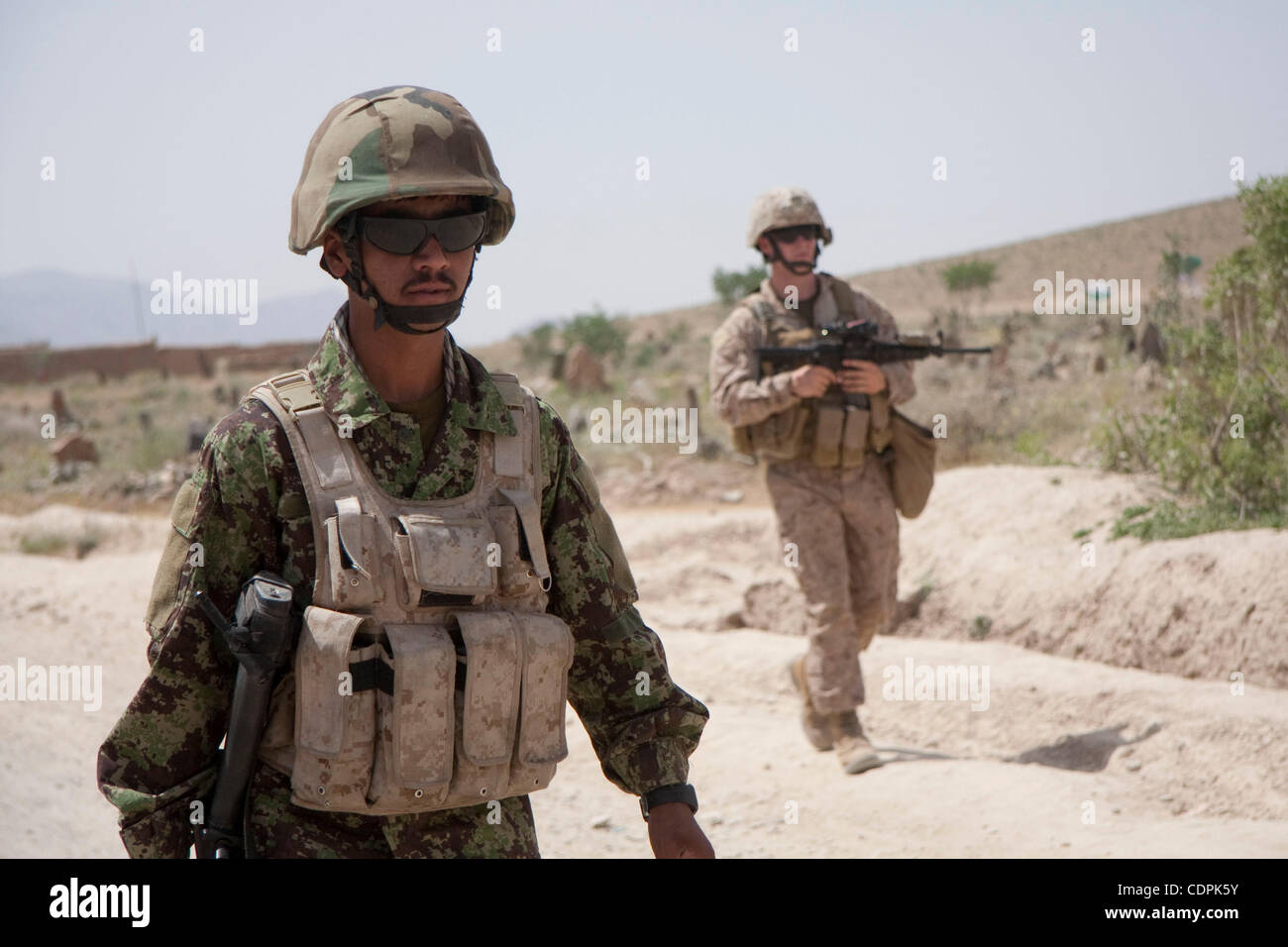 Apr 27, 2011 - Town of Naw Zad, Naw Zad district, Helmand, Afghanistan - An ANA soldier from 4th Company, 3rd Kandak, Stock Photo