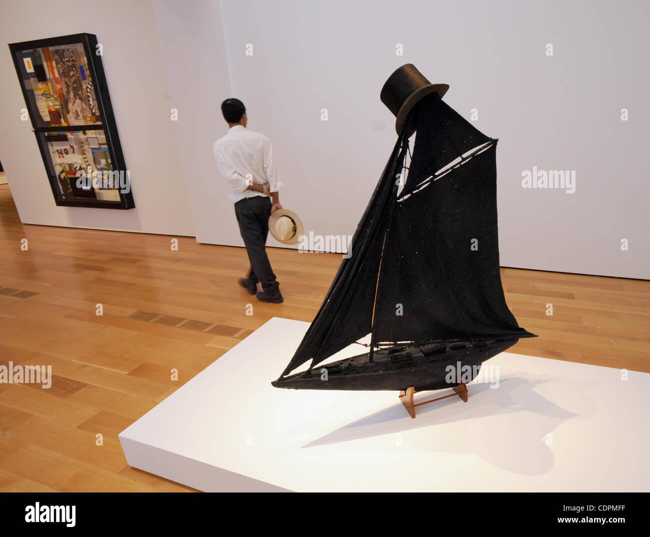 June 20, 2011 - Atlanta, GA, U.S. - ATLANTA, GA - JUNE 18: Artist Radcliffe Bailey walks away from Tricky, among - Stock Image