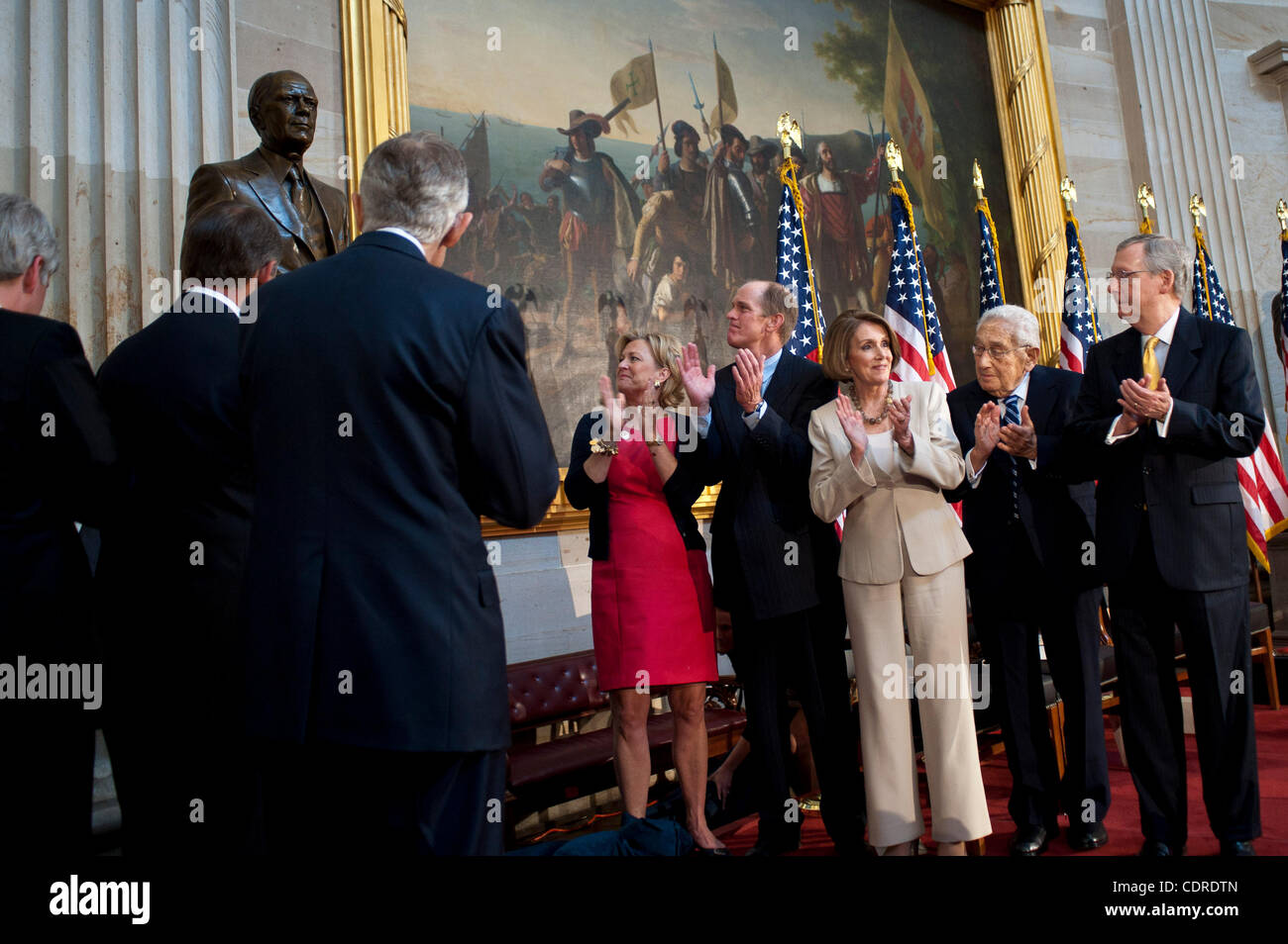 May 3, 2011 - Washington, District of Columbia, U.S. - STEVEN FORD and SUSAN FORD BALES (center), son and daugher - Stock Image