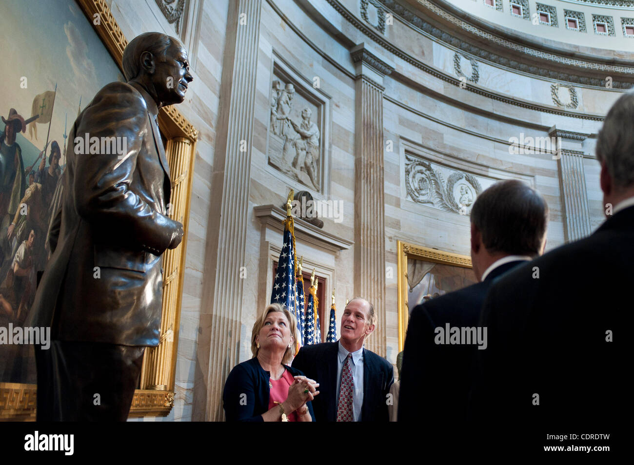 May 3, 2011 - Washington, District of Columbia, U.S. - STEVEN FORD and SUSAN FORD BALES, son and daugher of the - Stock Image