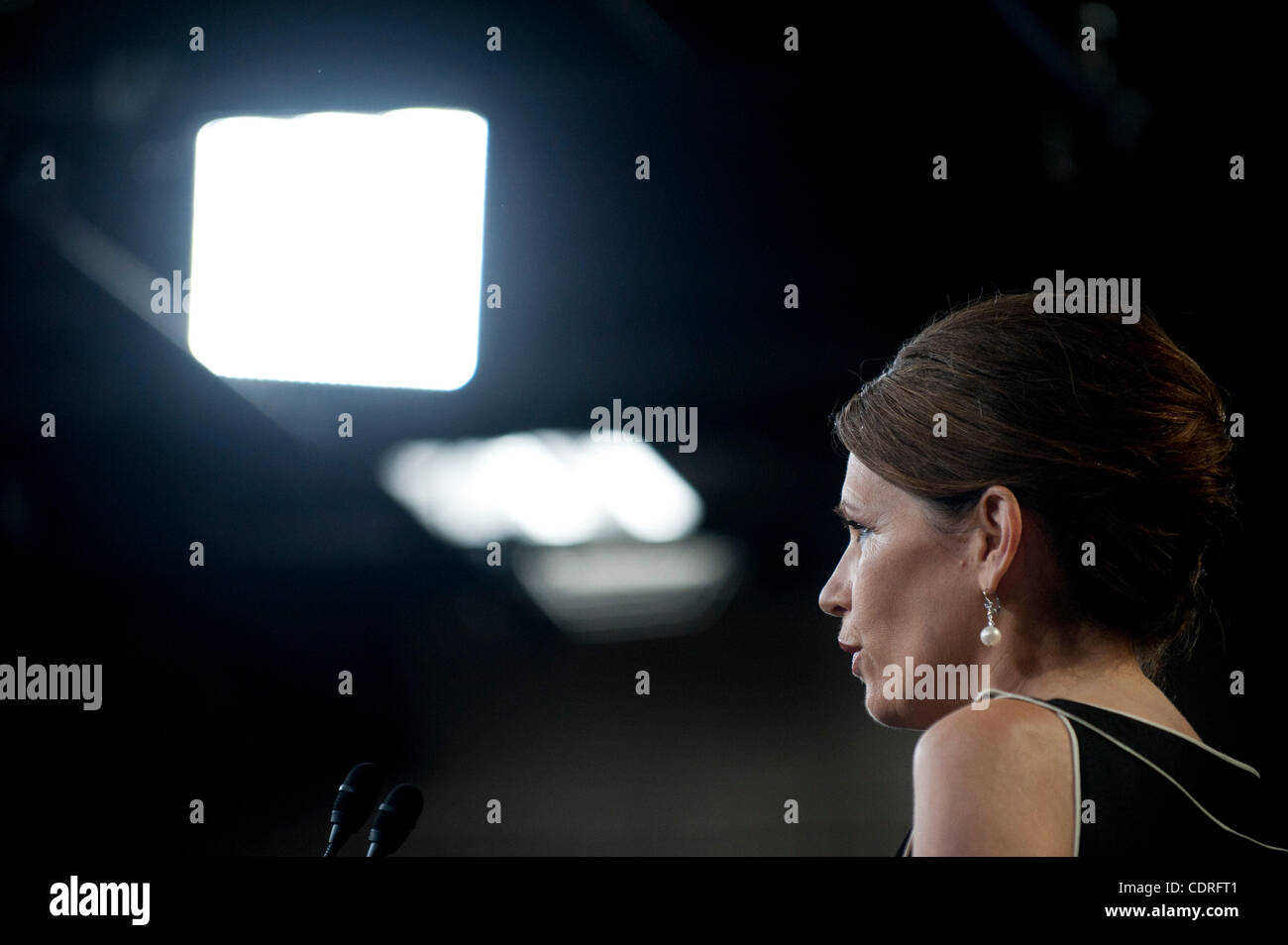 July 13, 2011 - Washington, District of Columbia, U.S. - Rep. MICHELE BACHMANN (R-MN) at  a news conference on Capitol - Stock Image