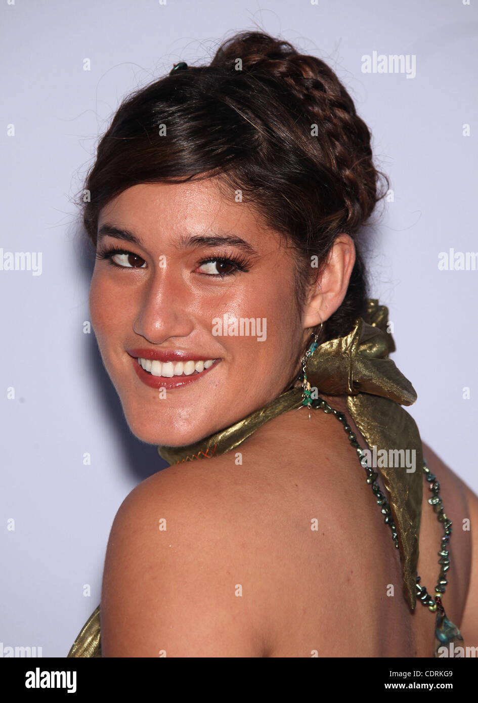 May 24, 2011 - Los Angeles, California, U.S. - Q'ORIANKA KILCHER arrives for the premiere of the film 'Tree - Stock Image