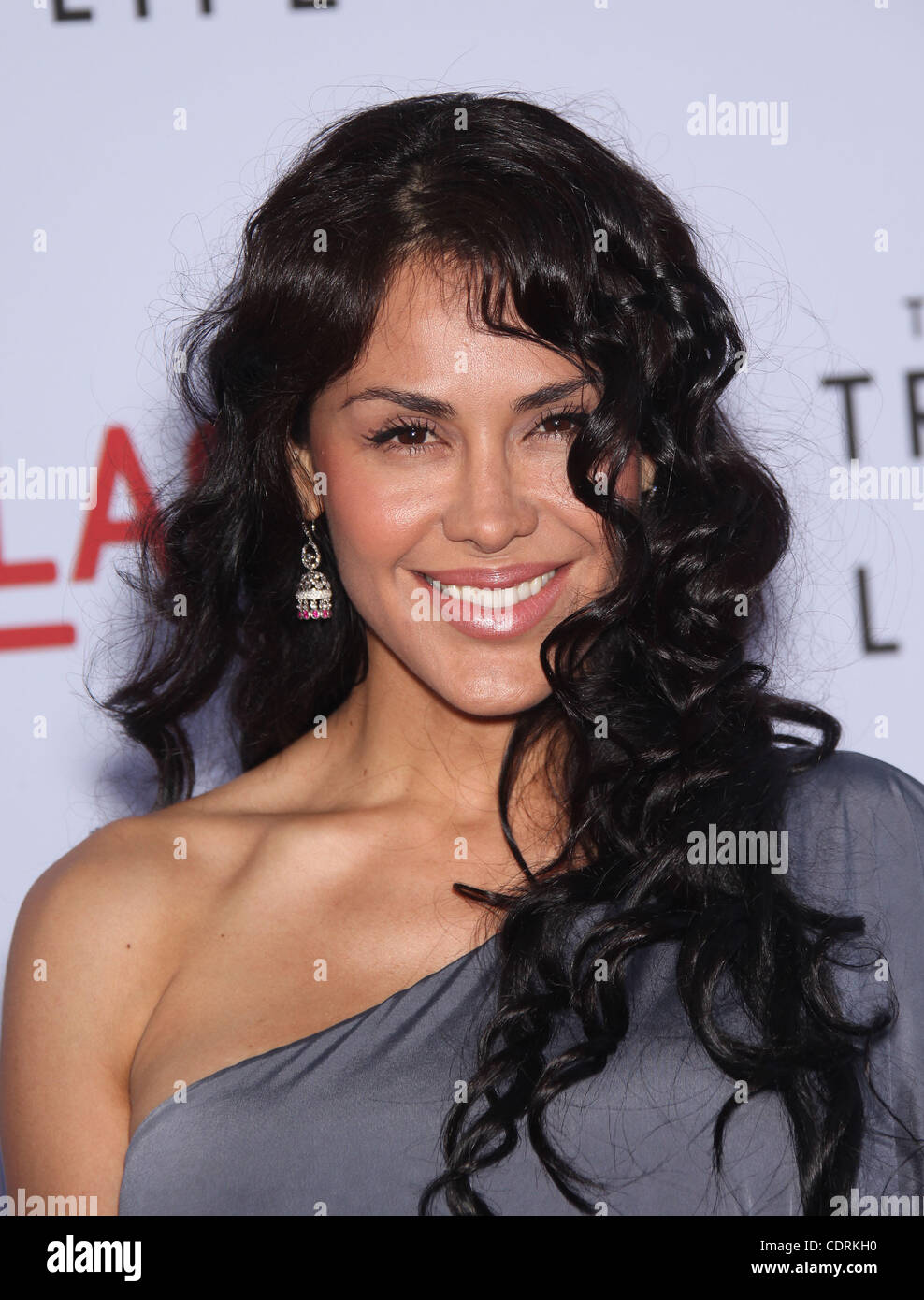 May 24, 2011 - Los Angeles, California, U.S. - CARLA ORTIZ arrives for the premiere of the film 'Tree Of Life' - Stock Image