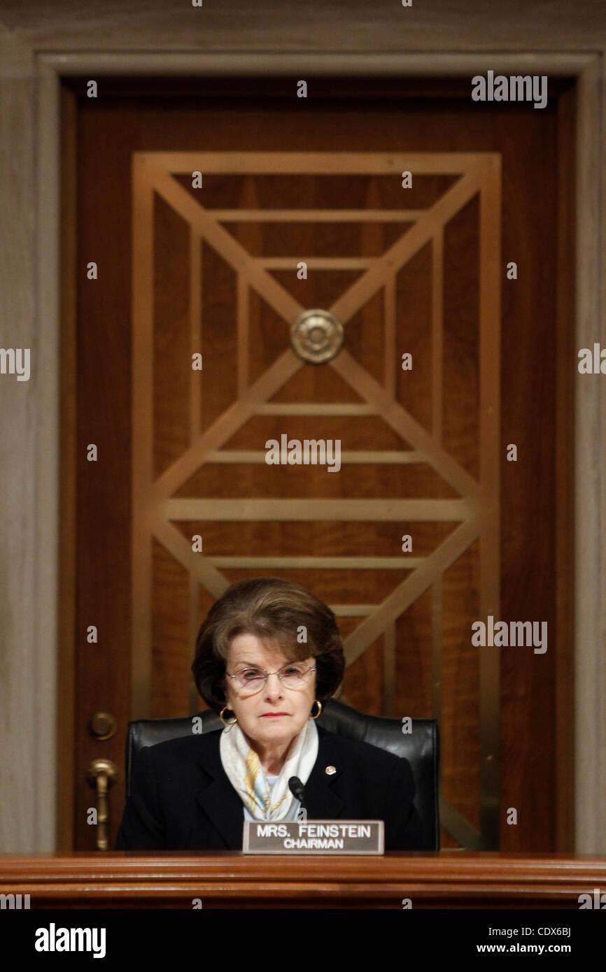 July 26, 2011 - Washington, D.C, U.S. - Senator DIANNE FEINSTEIN chairs the Senate (Select) Intelligence Committee - Stock Image