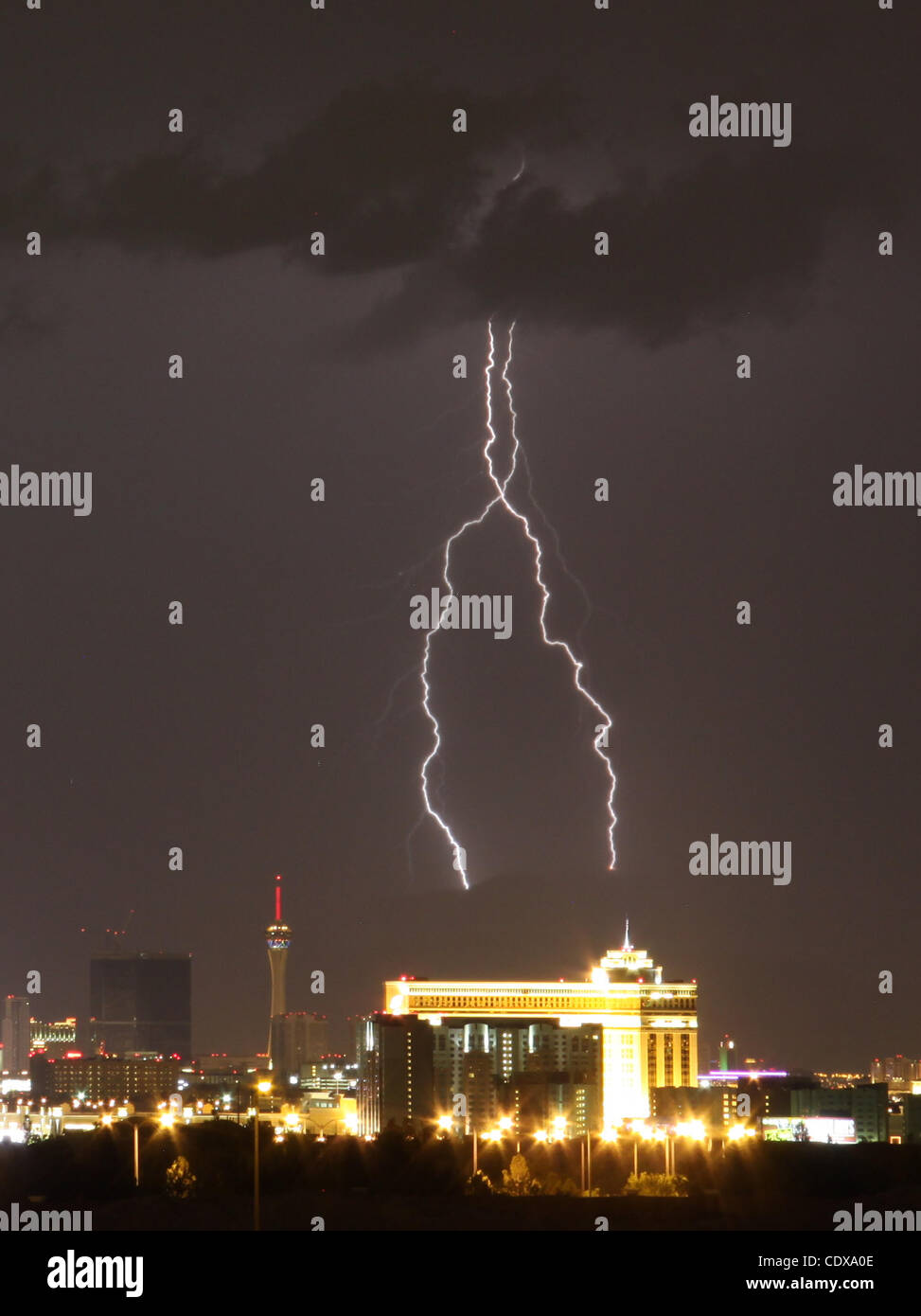 sept 13 2011 baker california usa monsoon storms light up the