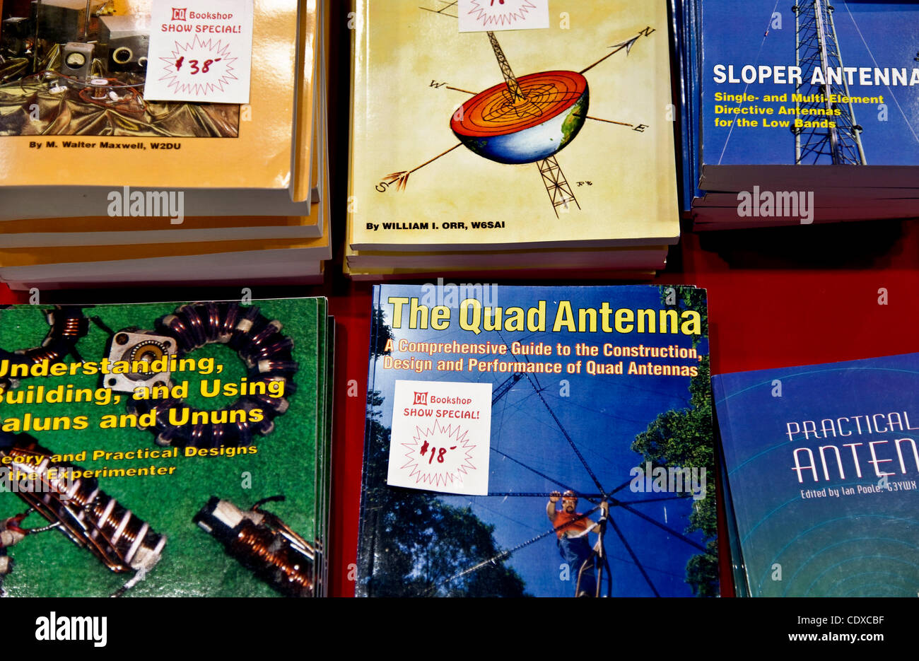 Sept. 09, 2011 - Torrance, California, USA -  Books for sale at HAMCON, the annual convention of amateur radio enthusiasts. - Stock Image