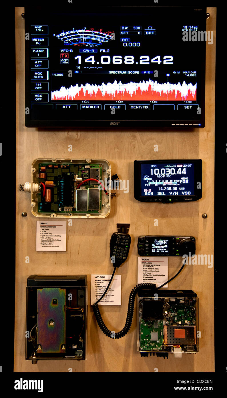 Sept. 09, 2011 - Torrance, California, USA -  Equipment on display at HAMCON, the annual convention of amateur radio - Stock Image