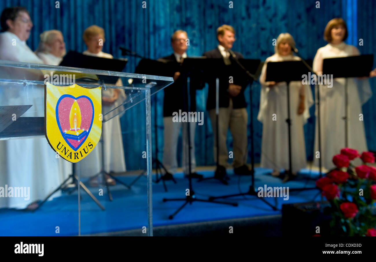 Oct. 15, 2011 - El Cajon, California, USA -  The Unarius Choraliers perform Unarius-inspired and other, more familiar - Stock Image