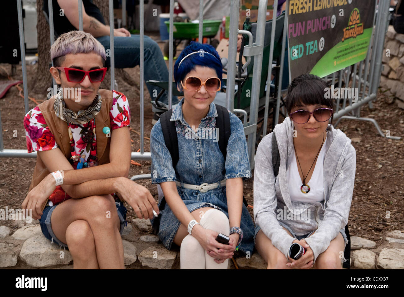 Attendees of  Fun Fun fest in Austin, TX - Stock Image