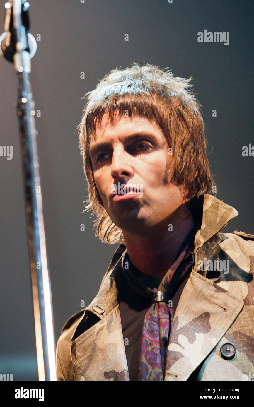Beady Eye live in Rome,  Liam Gallagher, Gem Archer, Andy Bell, e Chris Sharrock - Stock Image