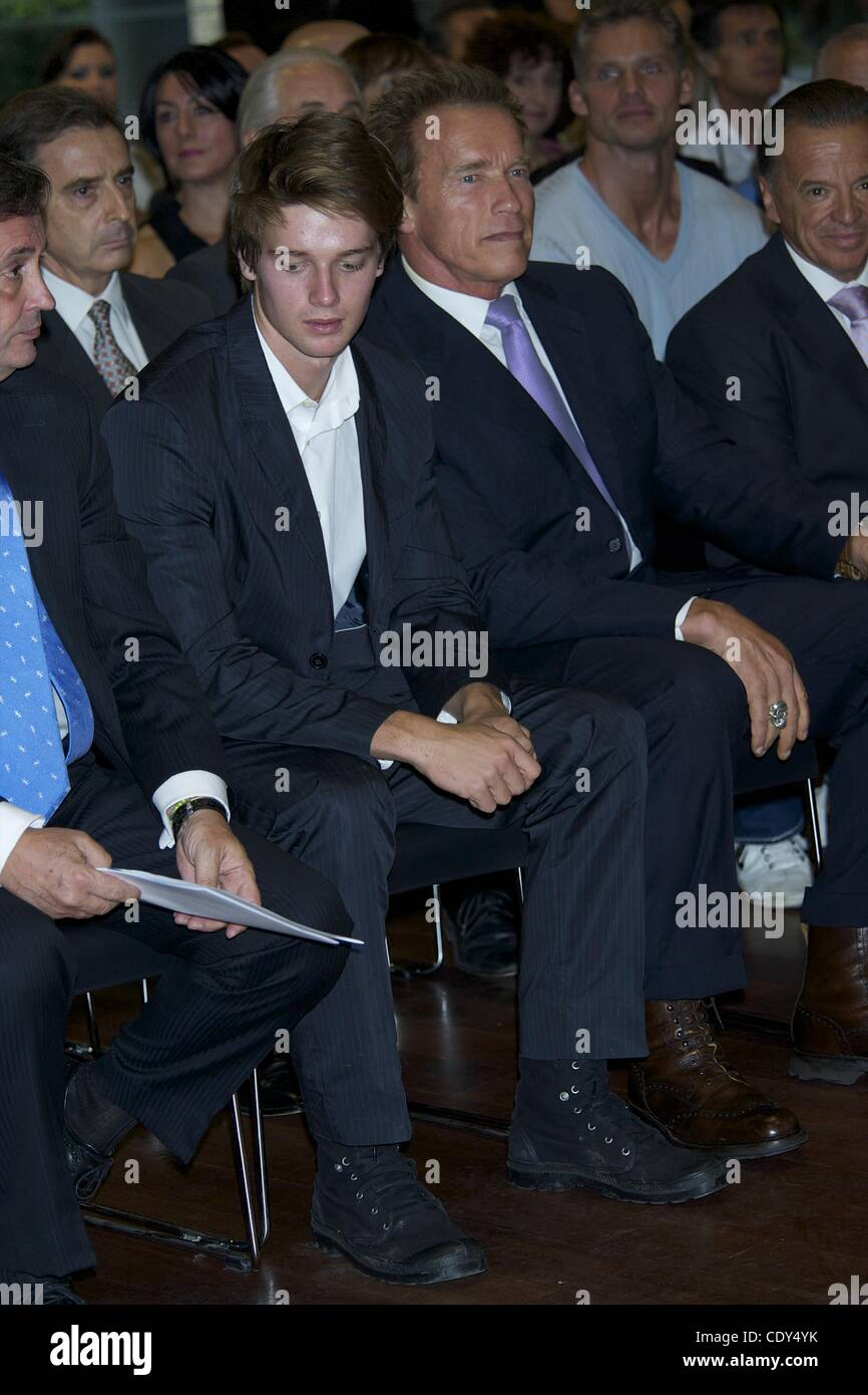 Oct  7, 2011 - Madrid, Spain - Arnold Schwarzenegger and his son
