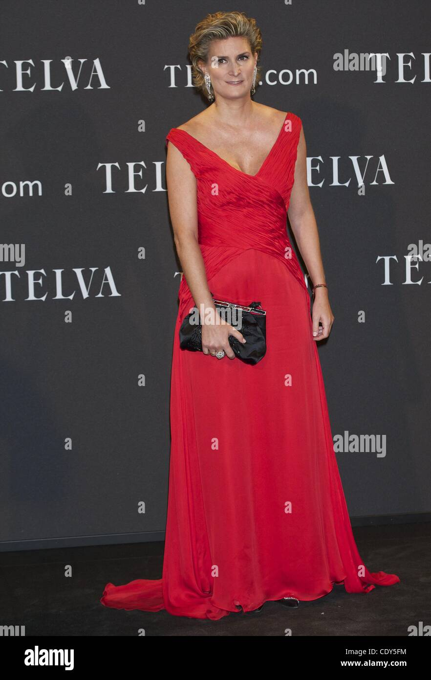 Oct. 24, 2011 - Madrid, Madrid, Spain - Maria Zurita attends 'Telva' Awards 2011 at Palacio de Cibeles on - Stock Image