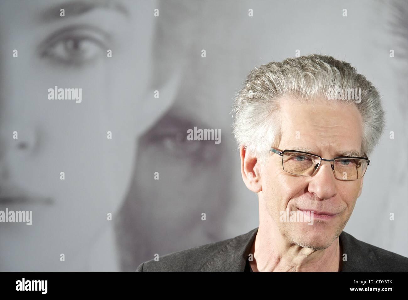 Nov. 2, 2011 - Madrid, Spain - Director David Cronenberg attends 'A Dangerous Method' photocall at Santo Mauro Hotel. Stock Photo