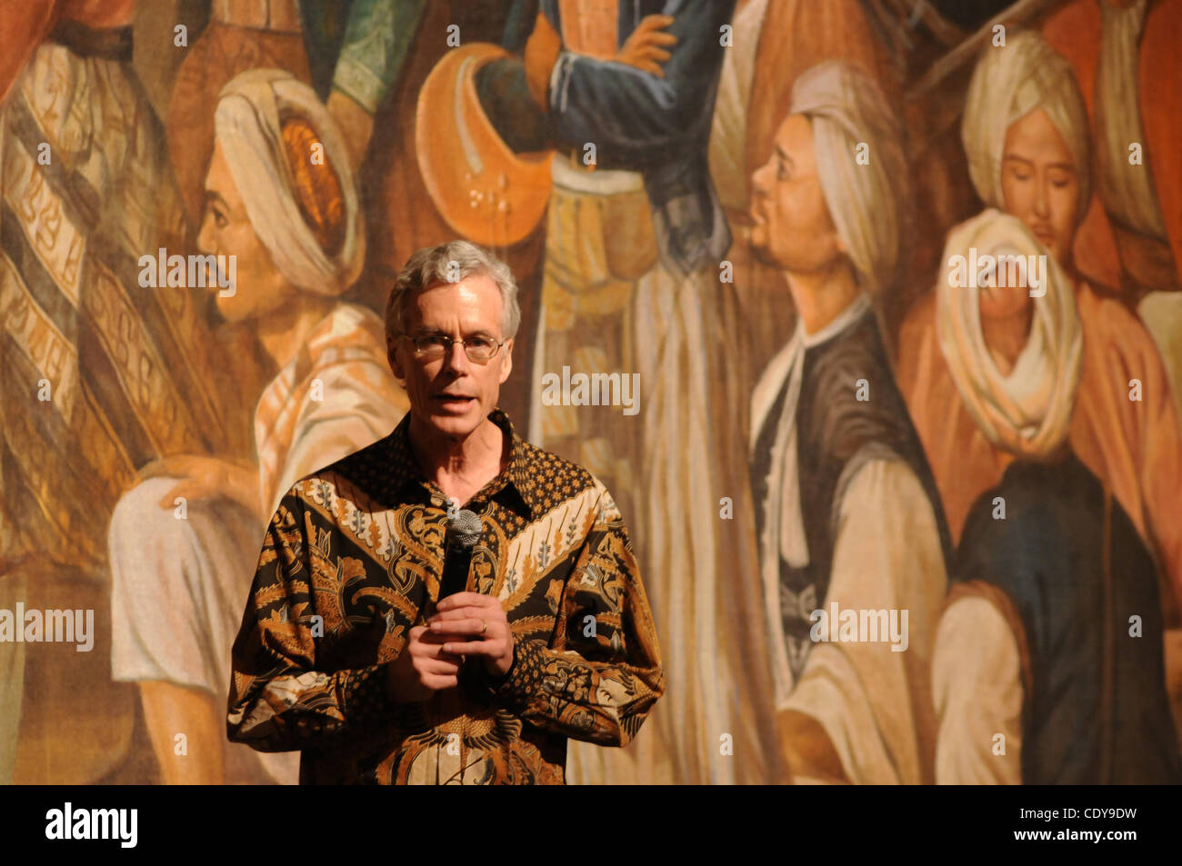 Nov. 10, 2011 - British Historian, PETER CAREY  speech  during   a Prince Diponegoro, Java War : 1825-0000 Opera - Stock Image
