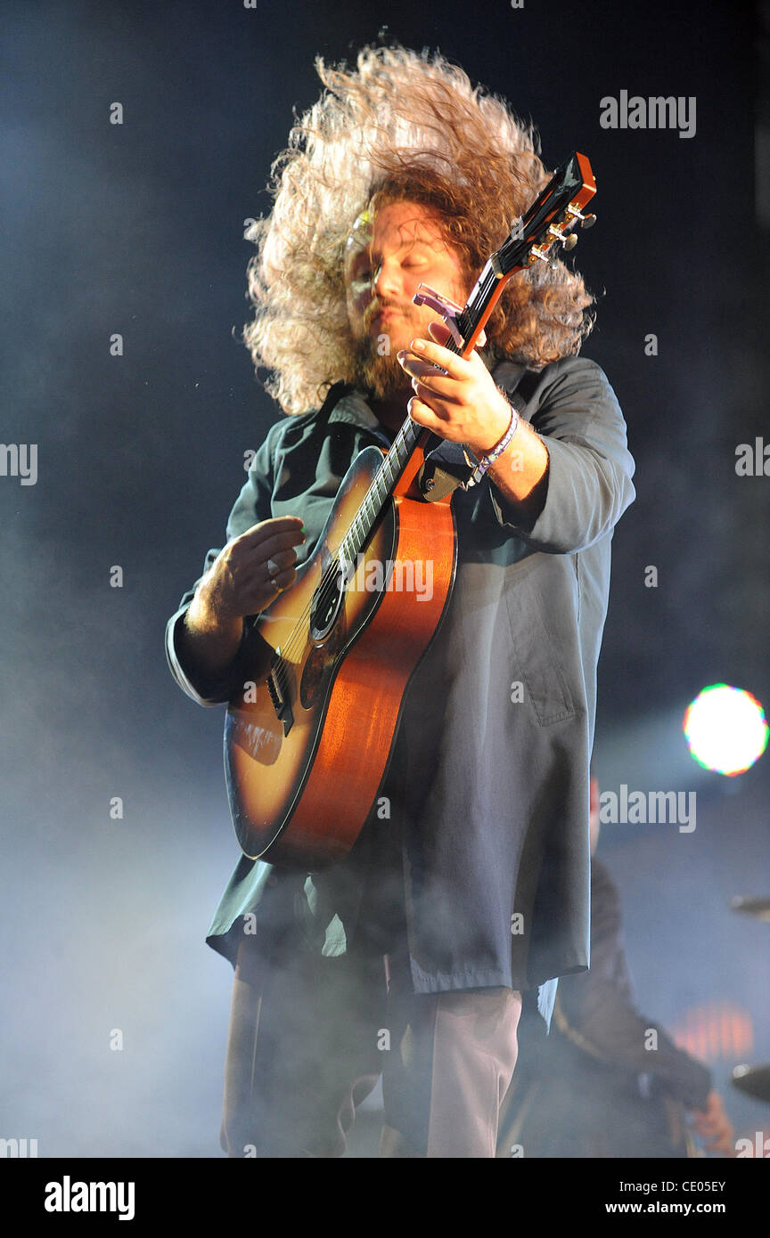 Aug 6, 2011 - Chicago, Illinois; USA - Musician JIM JAMES of the band My Morning Jacket performs live as part of - Stock Image