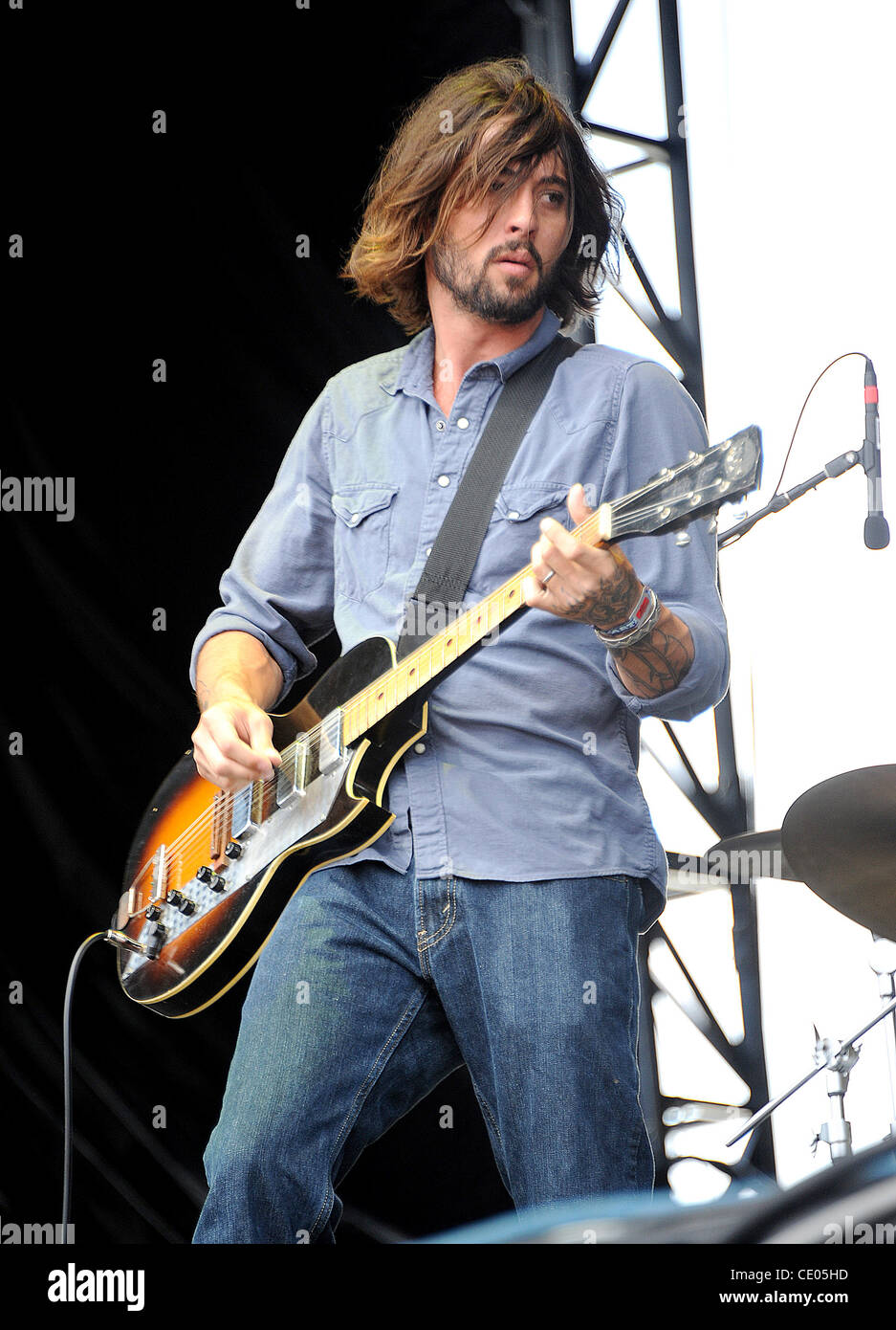 Aug 7, 2011 - Chicago, Illinois; USA - Musician RYAN BINGHAM & THE DEAD HORSES performs live as part of the - Stock Image