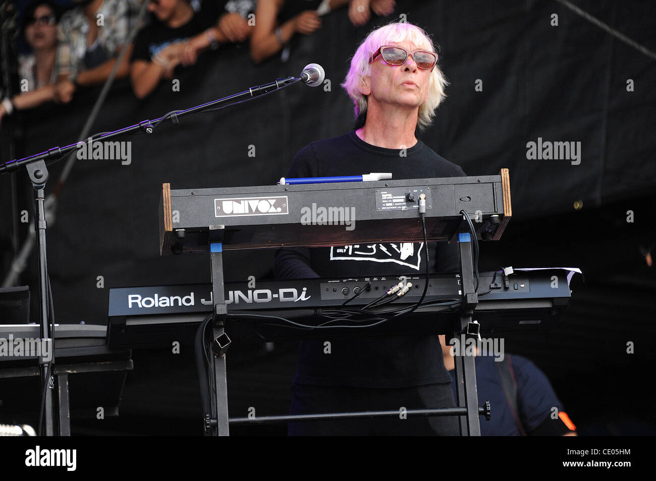 Aug 7, 2011 - Chicago, Illinois; USA - Keyboardist GREG HAWKES of The Cars performs live as part of the 20th Anniversary - Stock Image