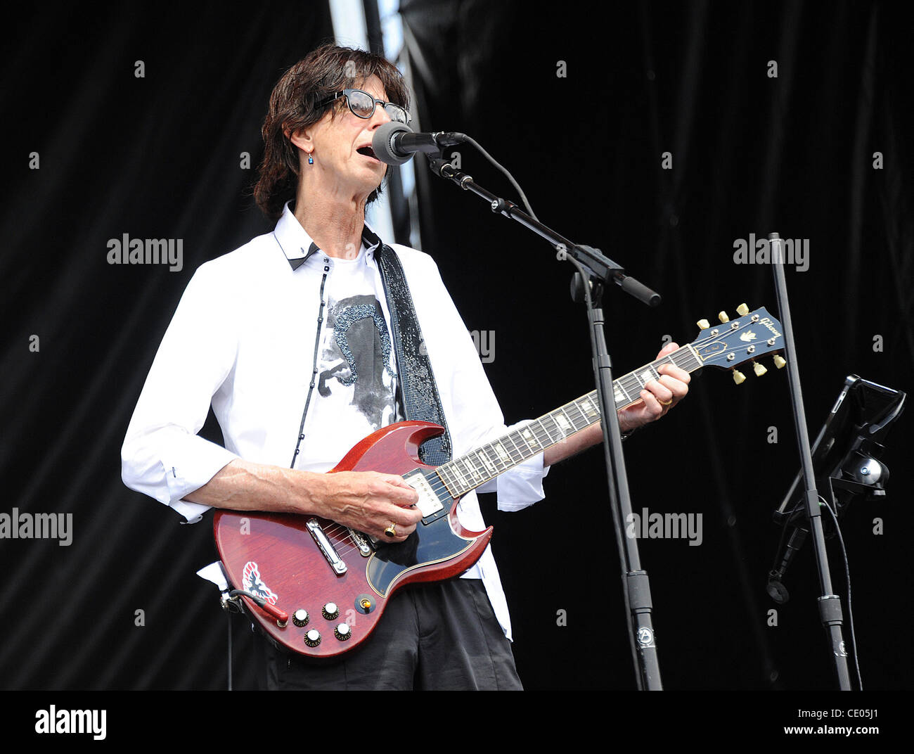 Aug 7, 2011 - Chicago, Illinois; USA - Musician RICK OCASEK of The Cars performs live as part of the 20th Anniversary - Stock Image