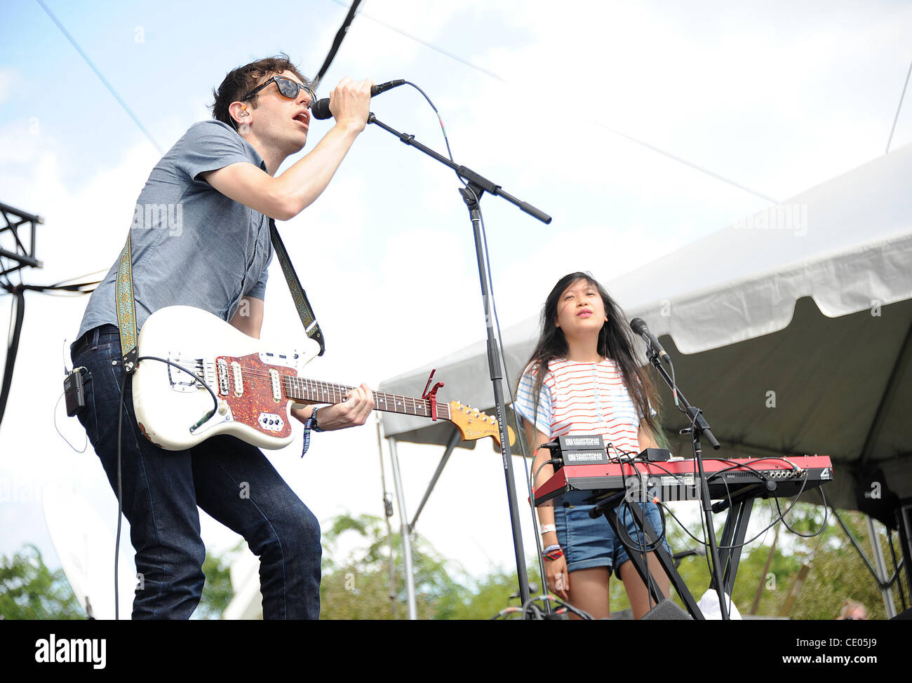 Aug 7, 2011 - Chicago, Illinois; USA - Musicians THE PAINS OF BEING PURE AT HEART performs live as part of the 20th - Stock Image