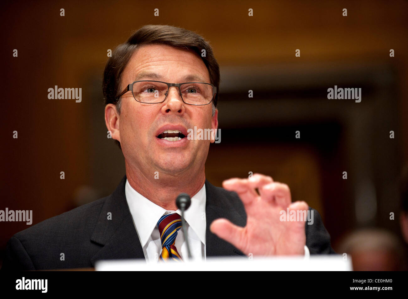 Sept. 6, 2011 - Washington, District of Columbia, U.S. - Office of Personnel Management Director JOHN BERRY testifies Stock Photo