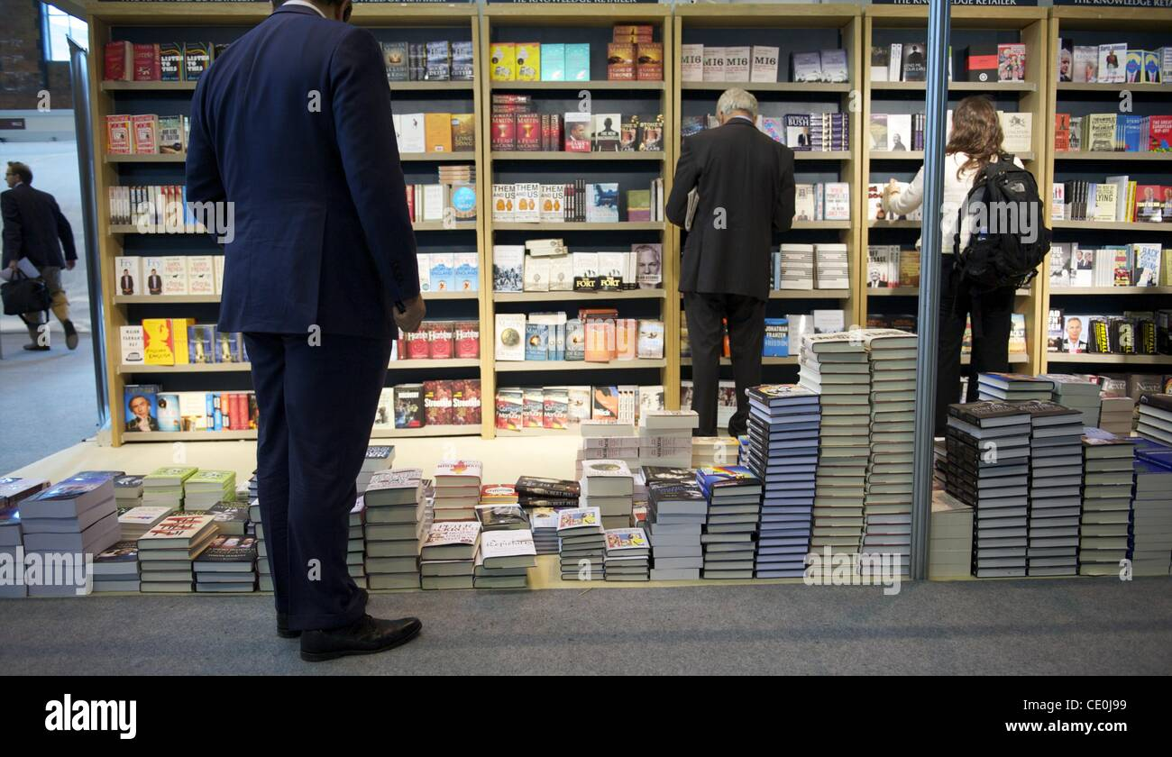 Oct. 4, 2011 - Manchester, England, UK - Delegates peruse books during the Conservatives Party Conference at Manchester - Stock Image