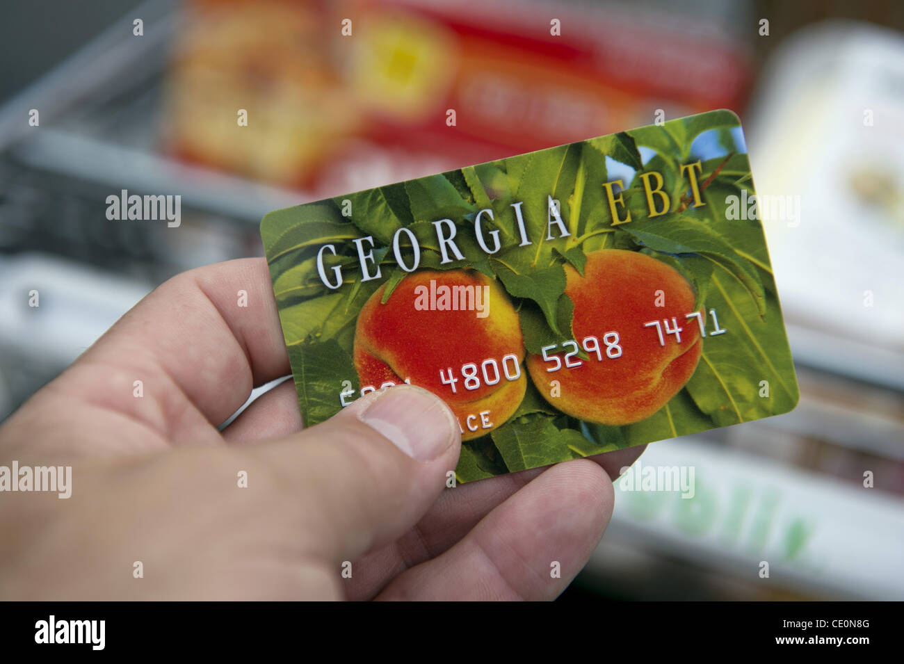 Sept 22 2011 Atlanta Ga Georgias New Food Stamp Card Stock