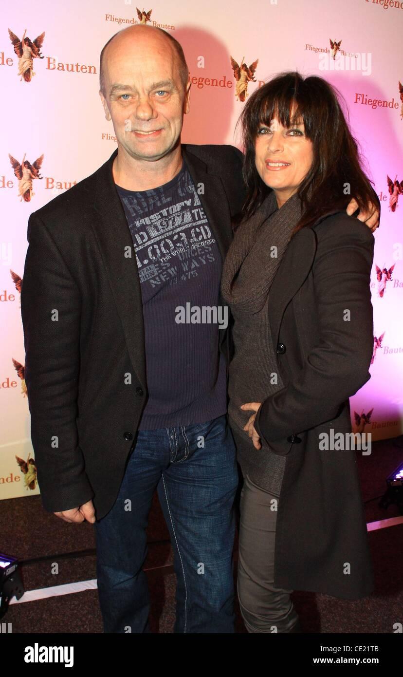 Corny Littmann and Carolin Fortenbacher at 'Sheketak' premiere at Fliegende Bauten. Hamburg, Germany - 09.02.2011 - Stock Image