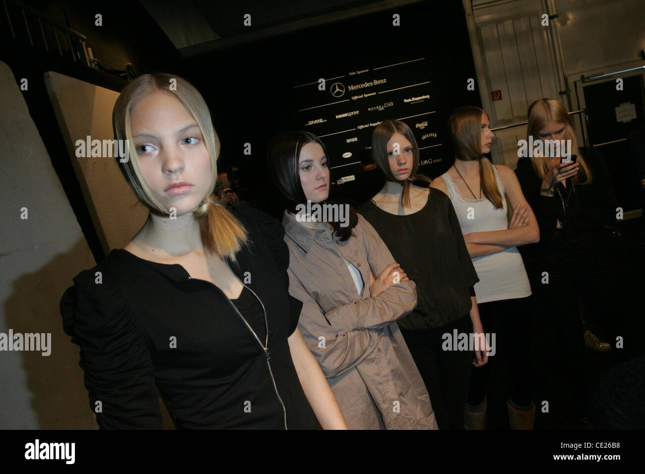 Models - Backstage - Dawid Tomaszewski fashion show at Mercedes Benz Fashion Week Berlin Autumn/Winter 2011 at the - Stock Image