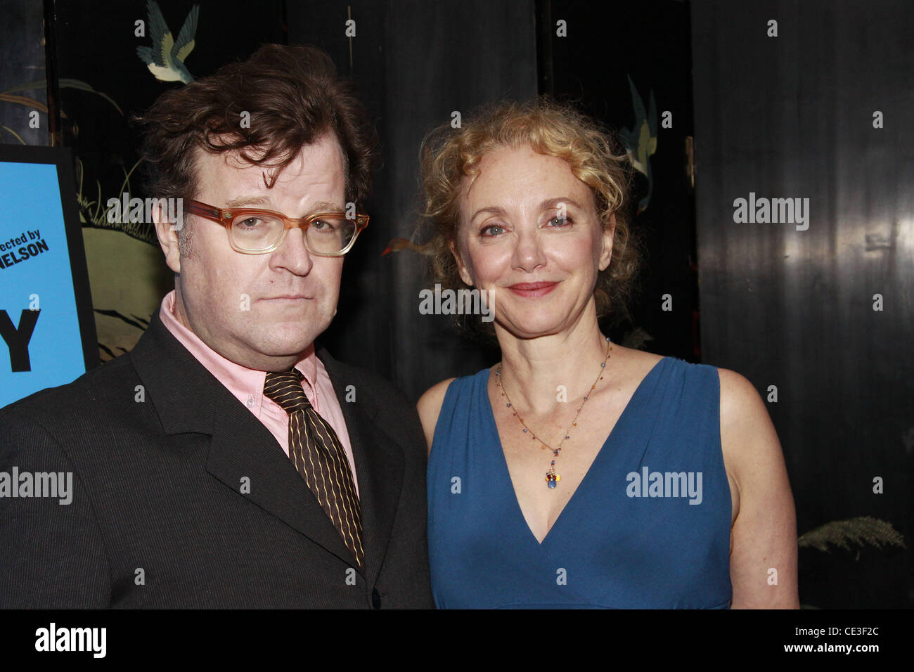 Kenneth Lonergan and J. Smith-Cameron  The opening night after party for the Public Theater production of 'That - Stock Image