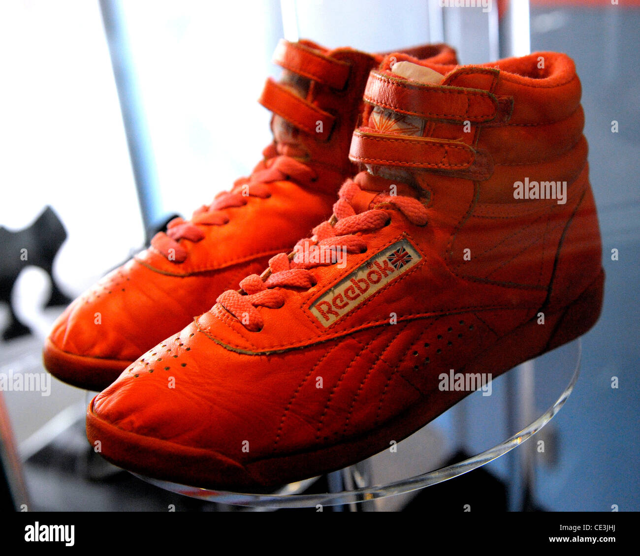 b53763ec Anne Murray's orange Reebok high-top sneakers from the 80's ...