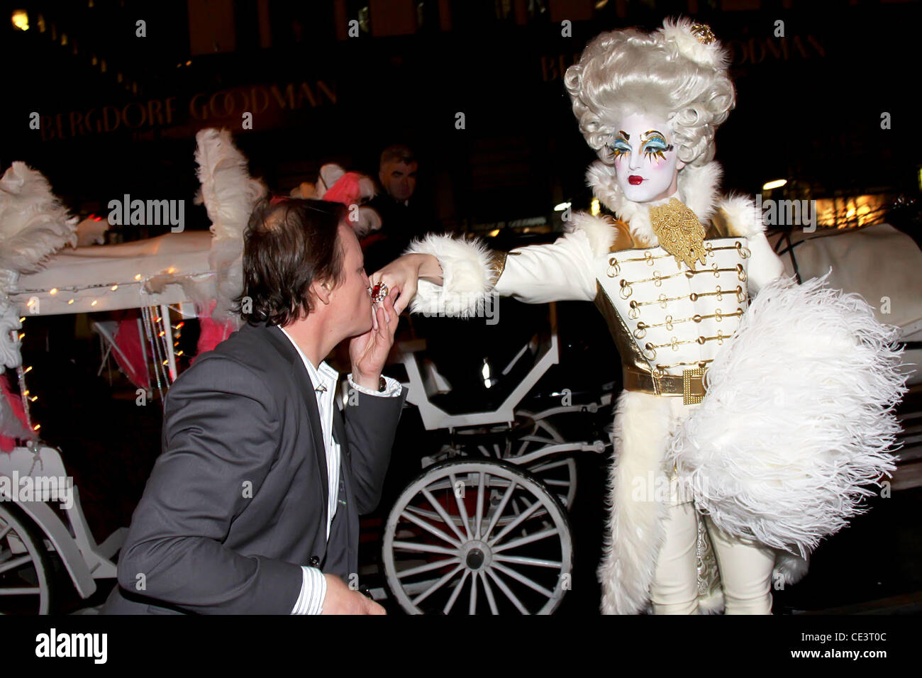 Patrick McMullan and Prince Poppycock Assouline's 'Windows at Bergdorf Goodman' book party celebration - Inside Stock Photo