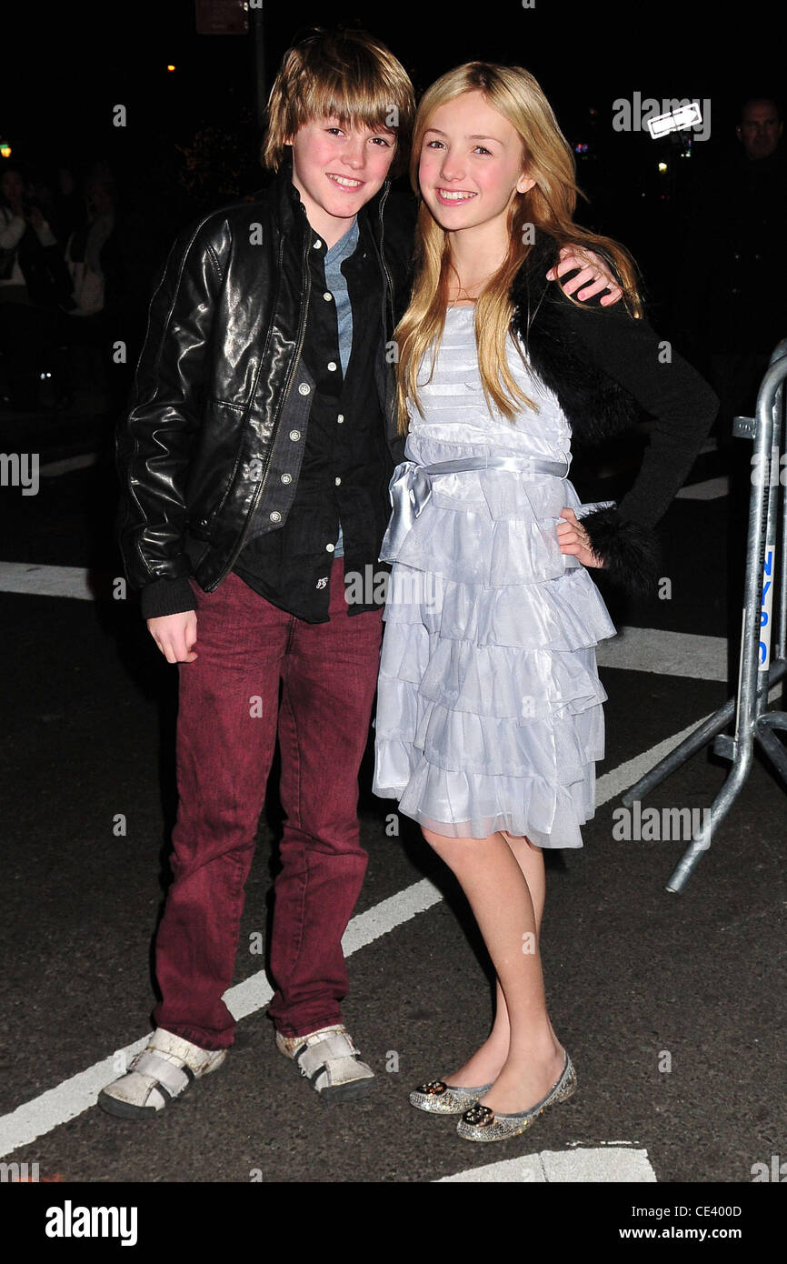 spencer list and peyton list new york premiere of rabbit hole held