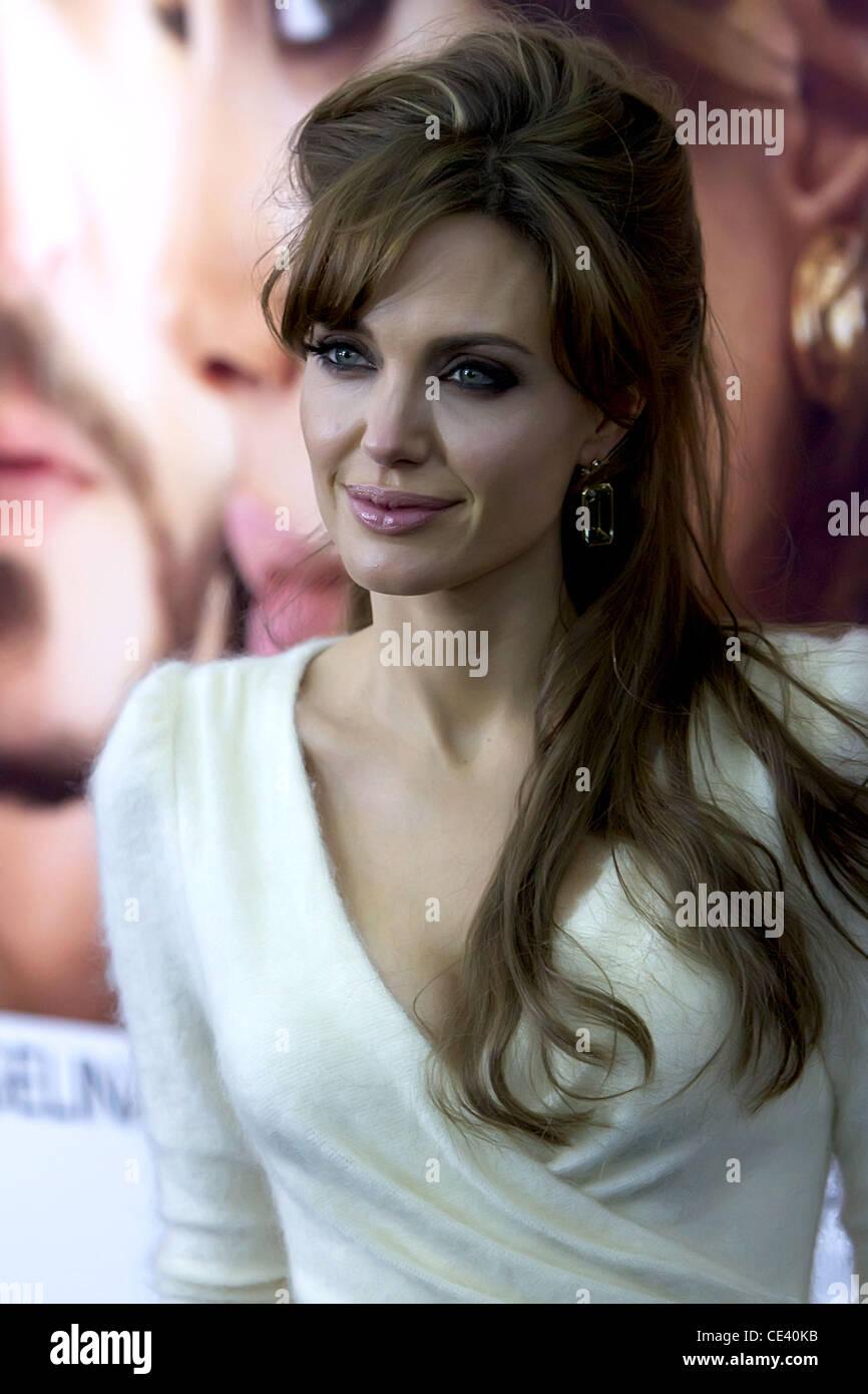 Angelina Jolie World premiere of 'The Tourist' held at Ziegfeld Theatre - Arrivals  New York City, USA  - Stock Image
