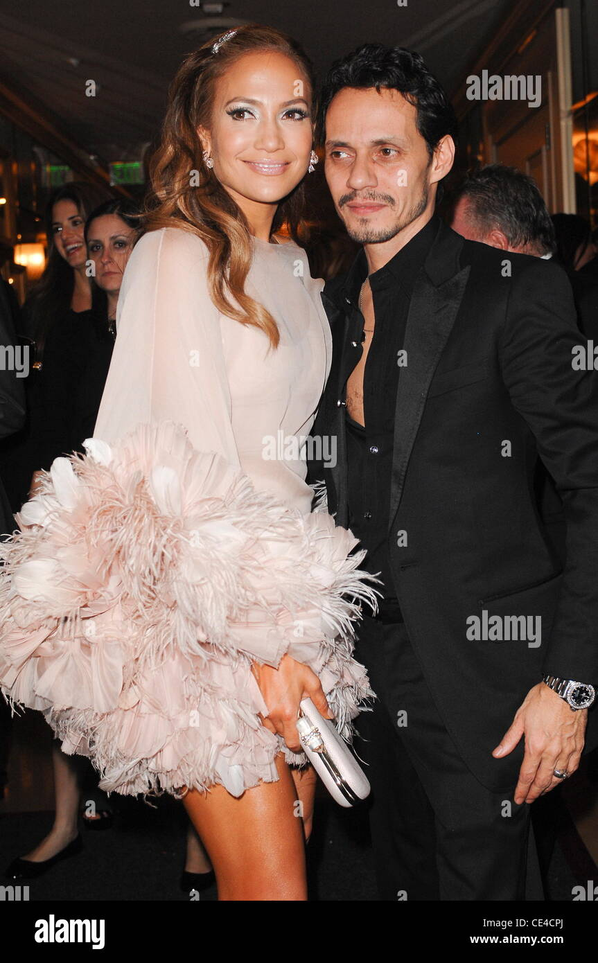 603a912e07e1 Jennifer Lopez, Marc Anthony HBO's Post 2011 Golden Globe Awards Party held  at Circa 55