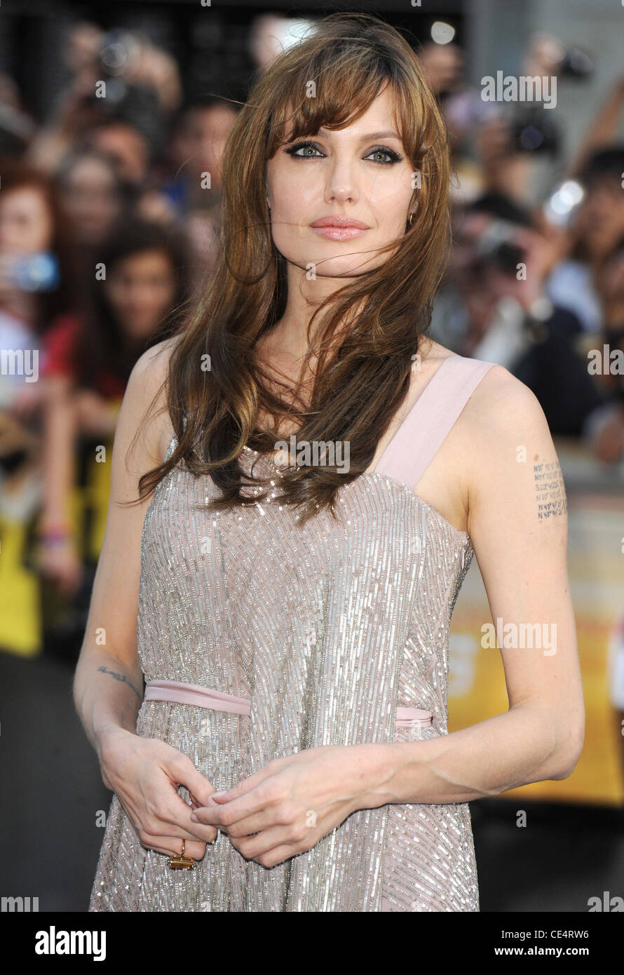 Angelina Jolie Uk Film Premiere Of Salt Held At The Empire