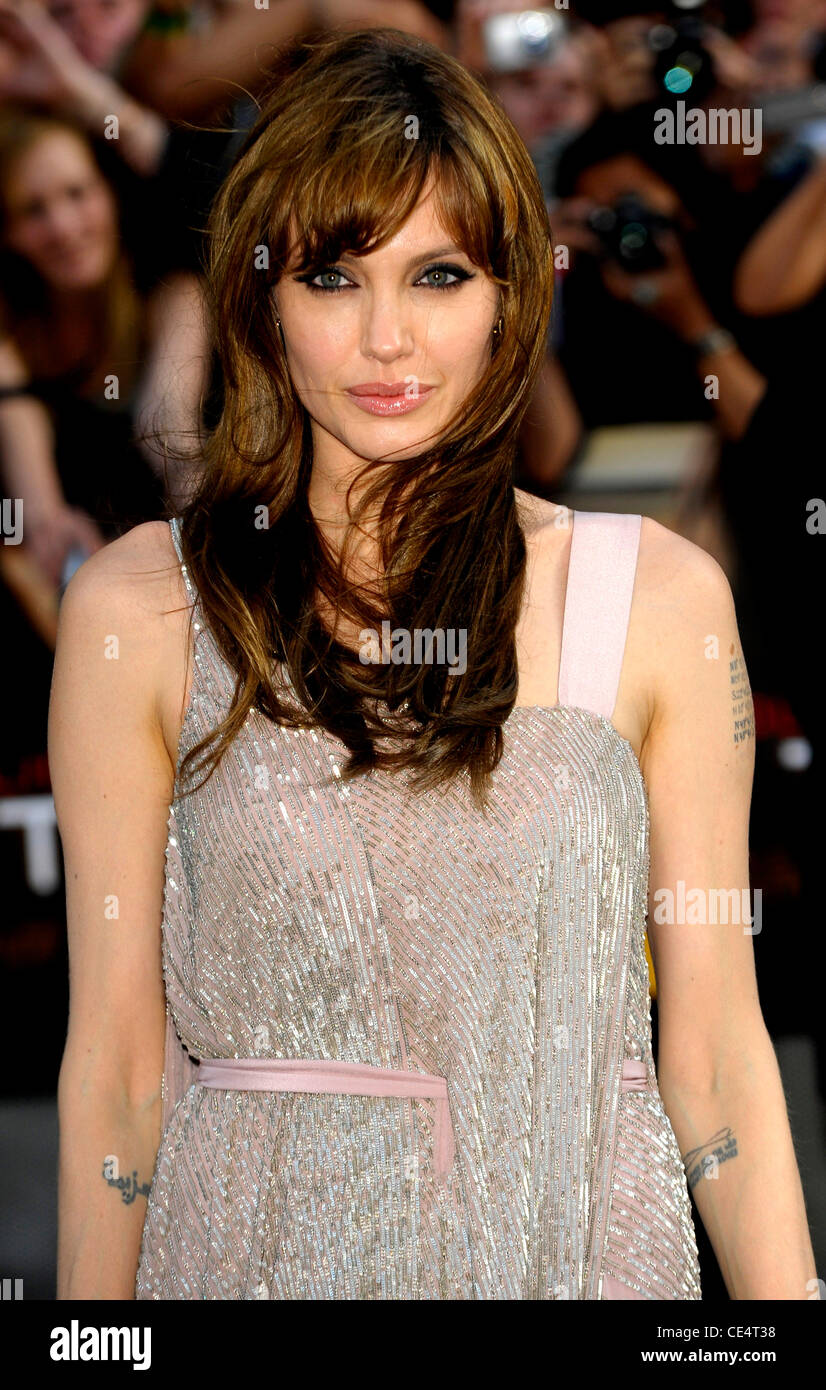 Angelina Jolie Salt - UK film premiere held at the Empire Leicester Square - Arrivals. London, England - 16.08.10 - Stock Image