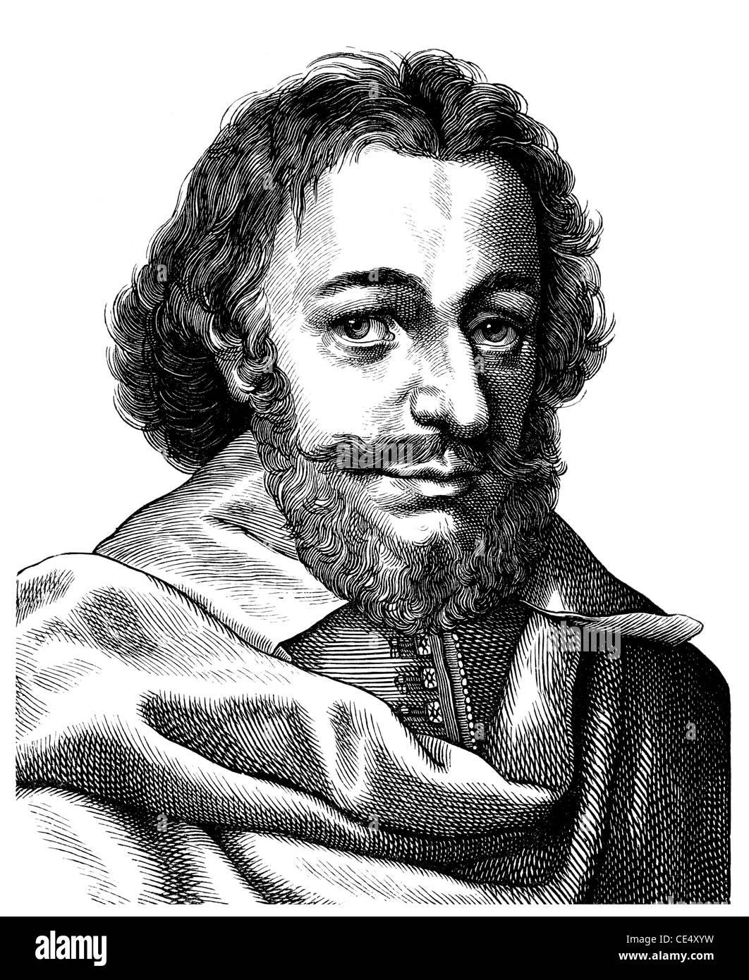 Matthaeus Merian the Elder, 1593-1650, Swiss-German engraver and publisher Stock Photo