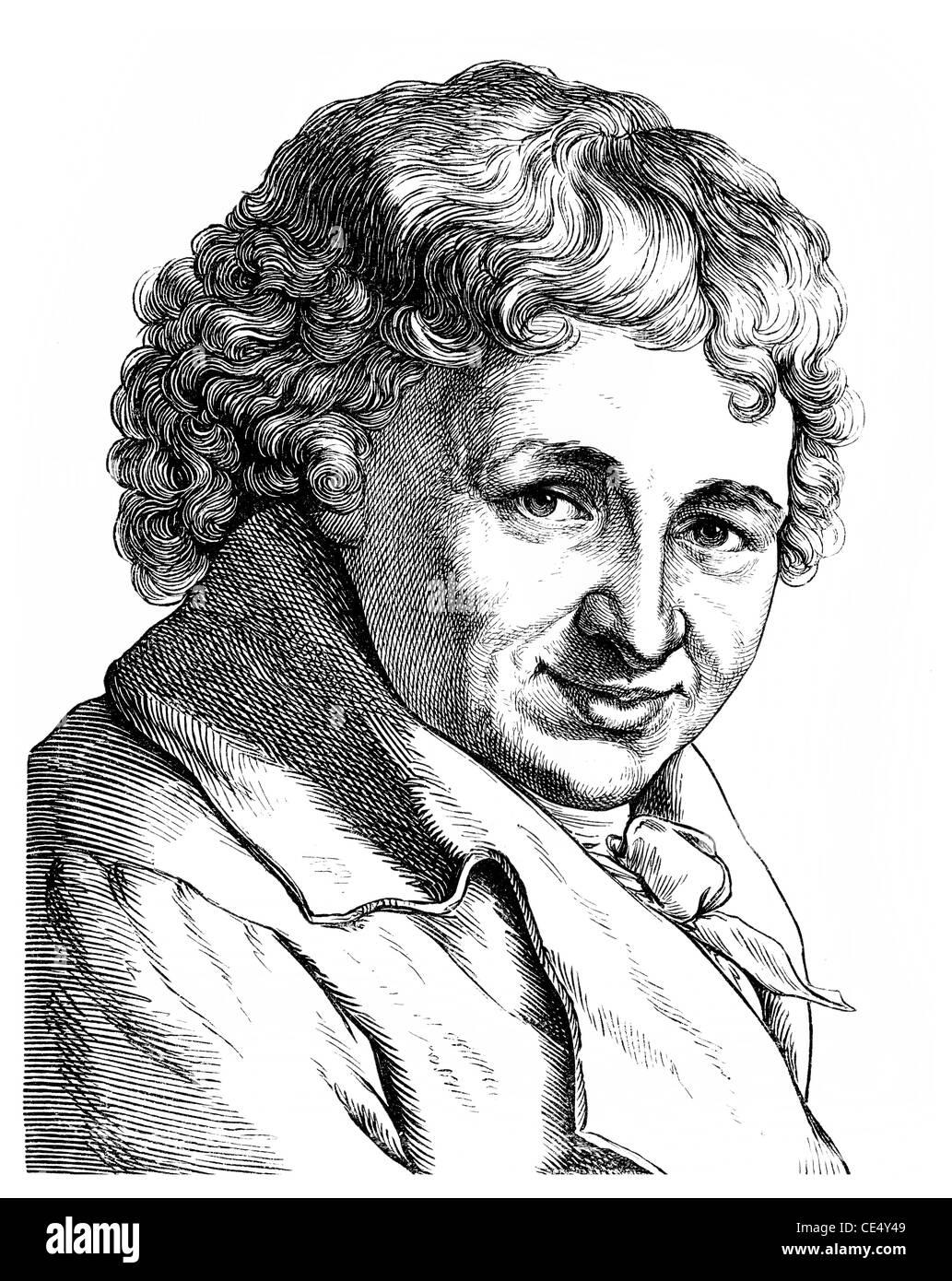 Daniel Nikolaus Chodowiecki, 1726 - 1801, a German engraver, printmaker and illustrator of the 18th century - Stock Image