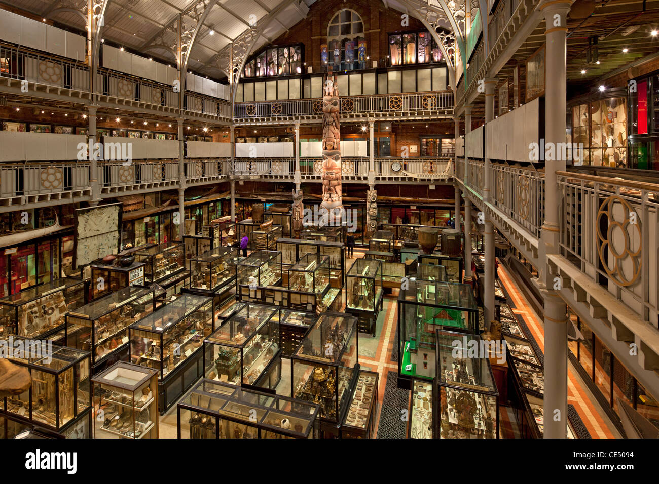 Pitt Rivers Museum, Oxford, England - Stock Image