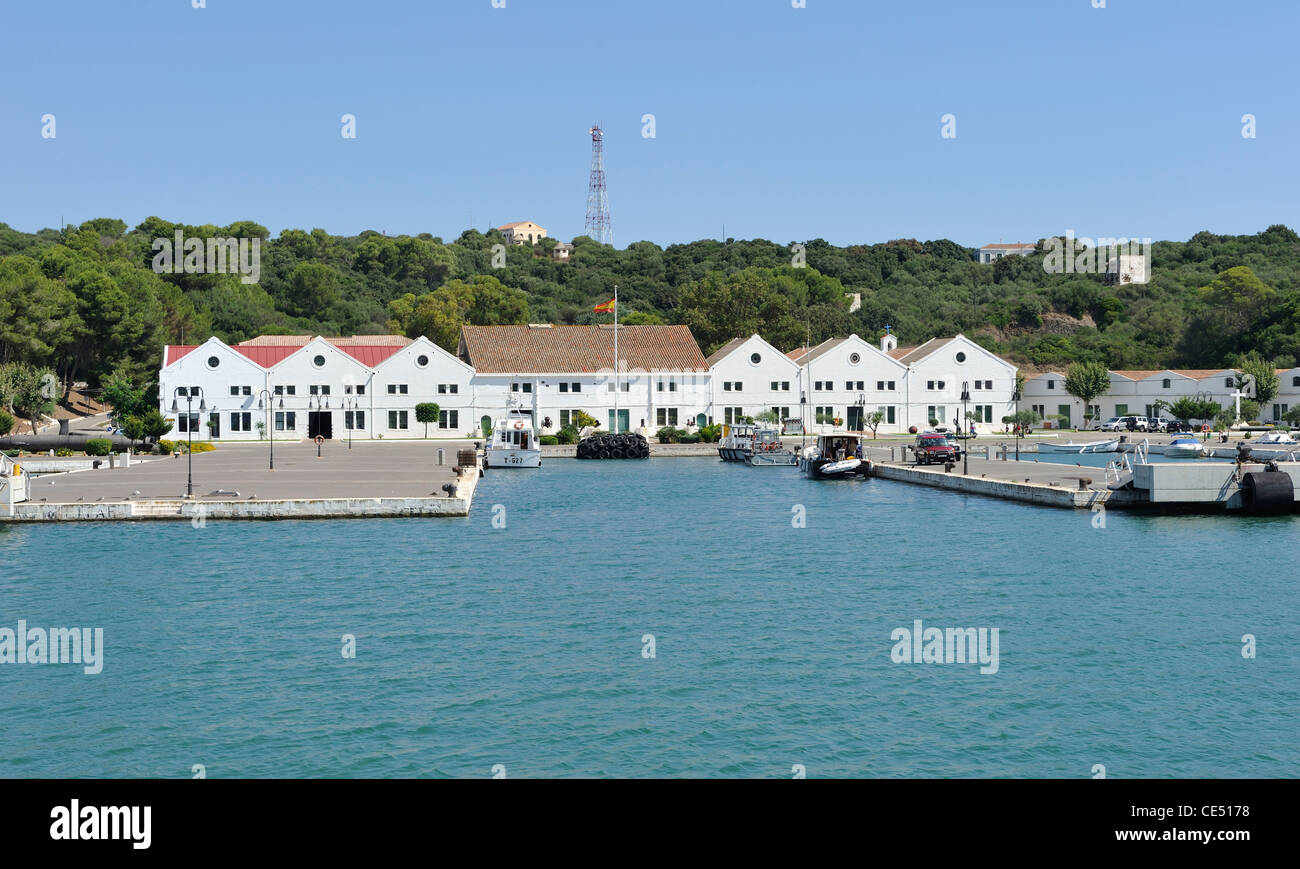 spanish naval base in mao mahon harbour menorca spain one of the